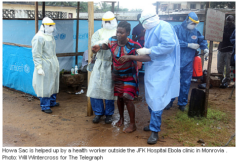 the telegraph, daily mail, fail, ebola, fraud, sierra leone, liberia, jfk medical center, monrovia