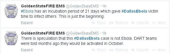 Golden State, FIRE EMS, ebola
