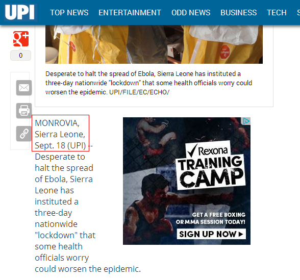 upi, united press international, fail, ebola, fraud, sierra leone, liberia, jfk medical center, monrovia